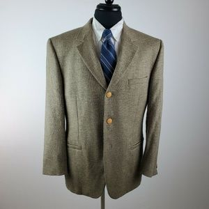 Versace 40 R 3 Button Wool Silk 3 Button Blazer